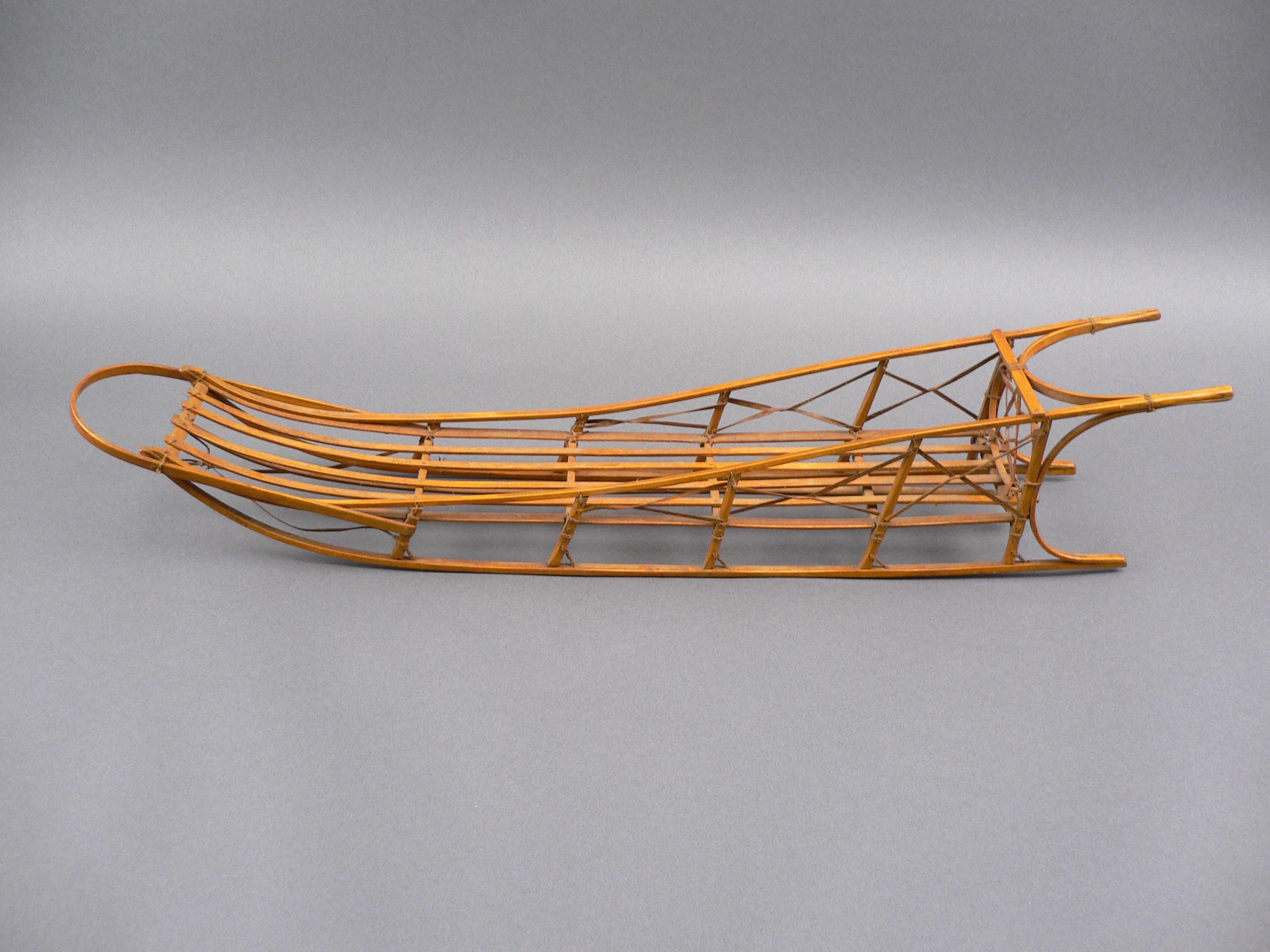 vintage alaskan inuit eskimo craft hand built scale model dog sled