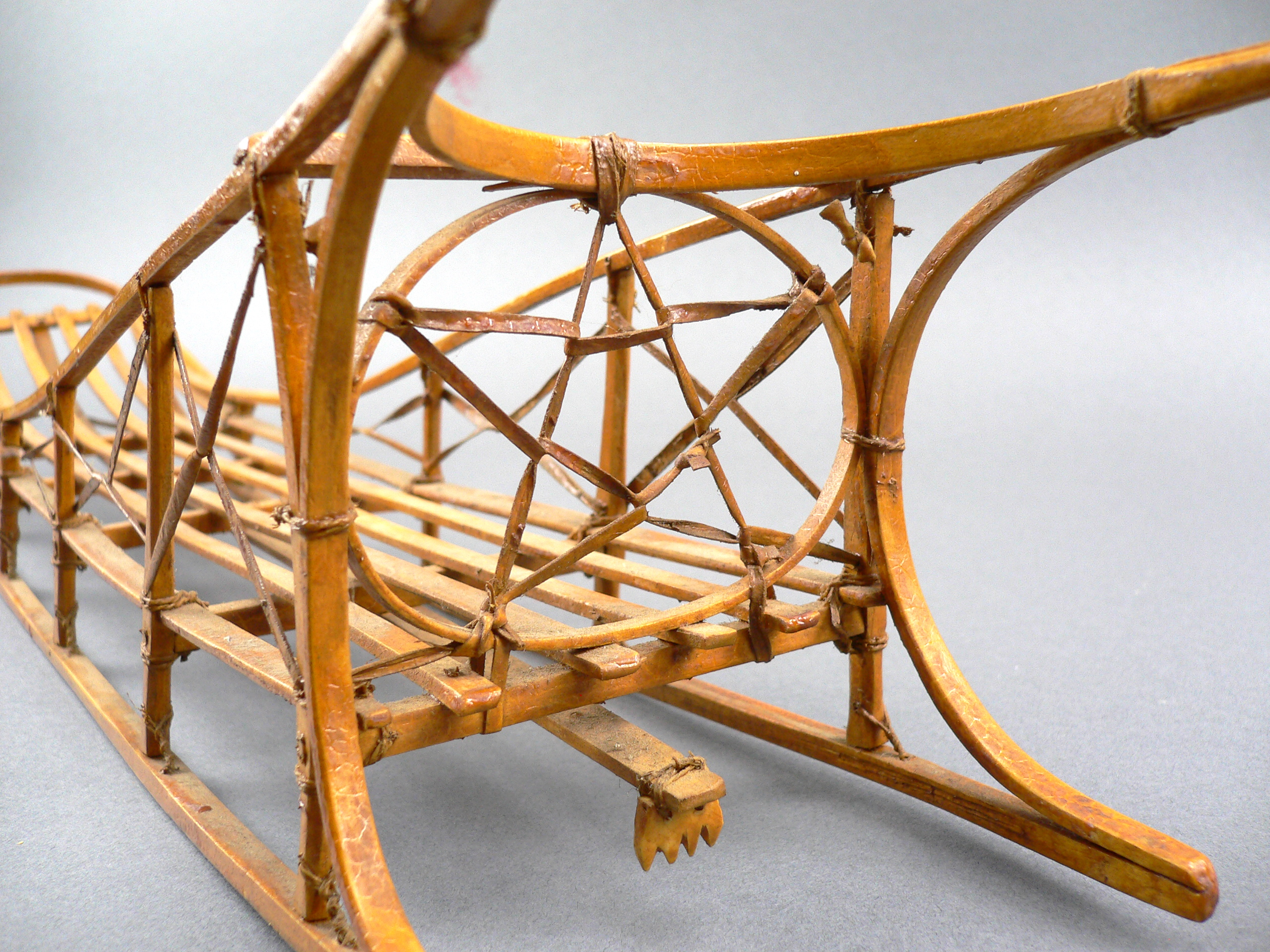 Sled Dog Craft http://sasquatchantiques.com/vintage-alaskan-inuit-eskimo-craft-hand-built-scale-model-dog-sled-24-long