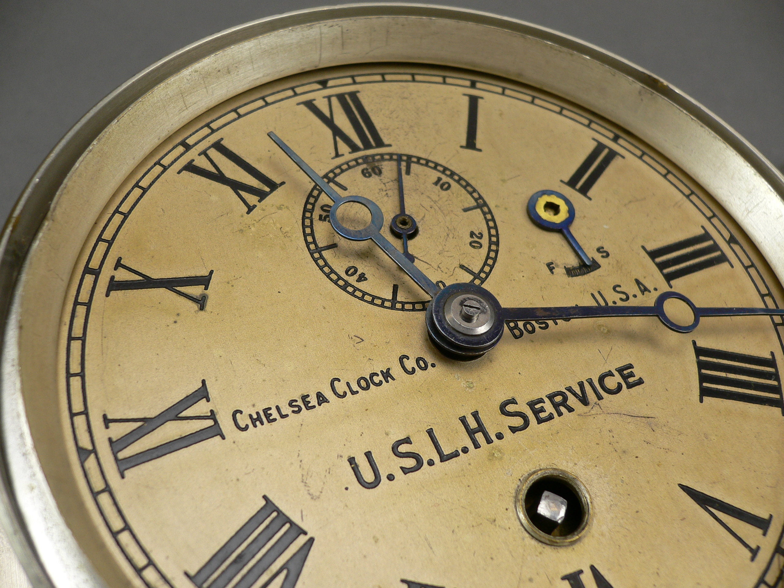 Us Lighthouse Service Chelsea Marine Wall Clock With