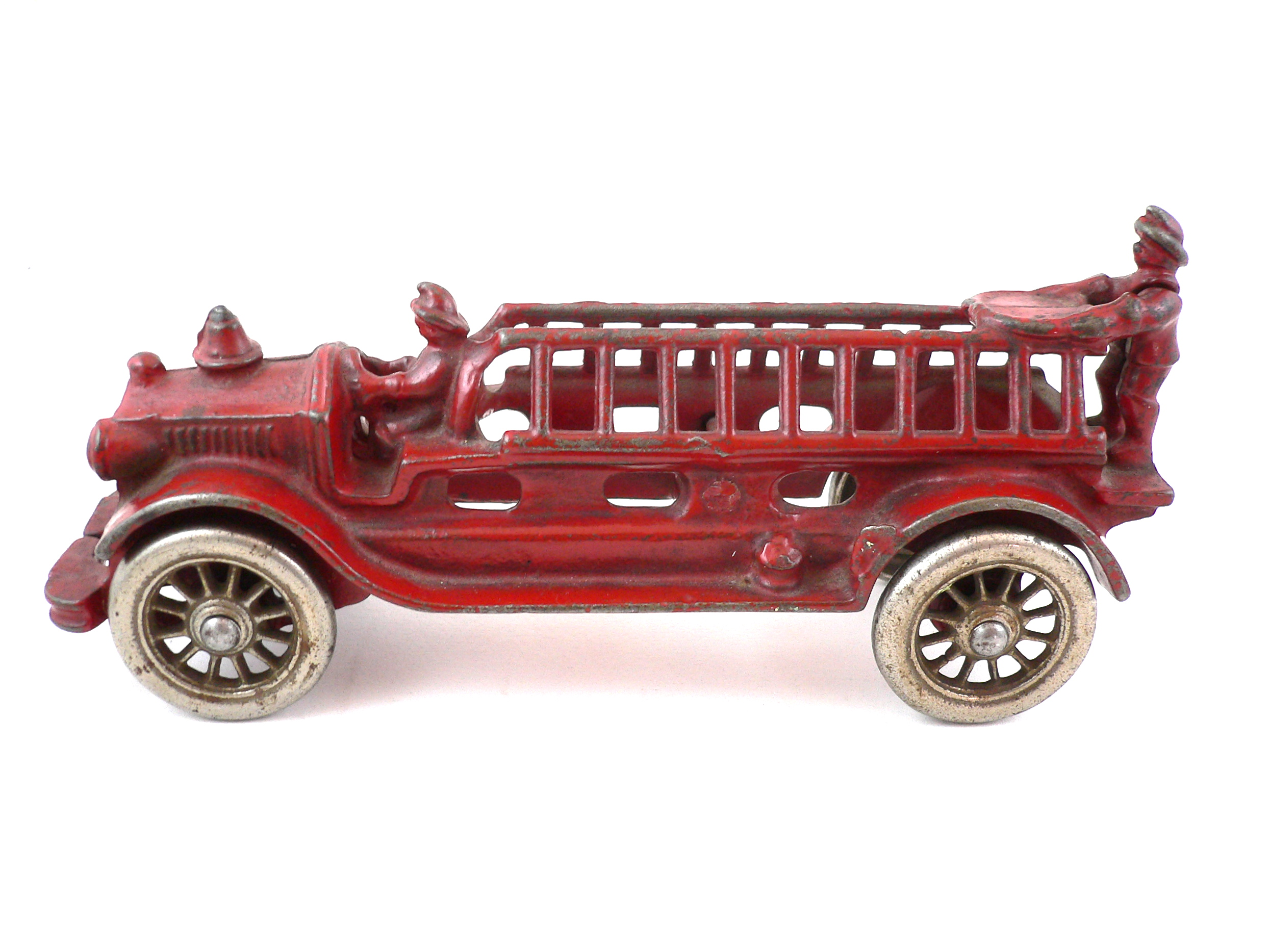Vintage toy fire trucks what words