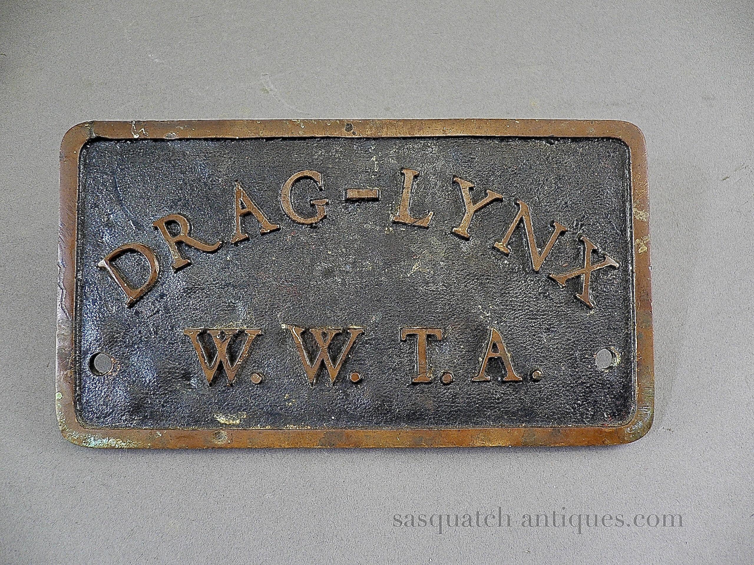Vintage 50 S Drag Lynx Car Club Plaque Western Washington State