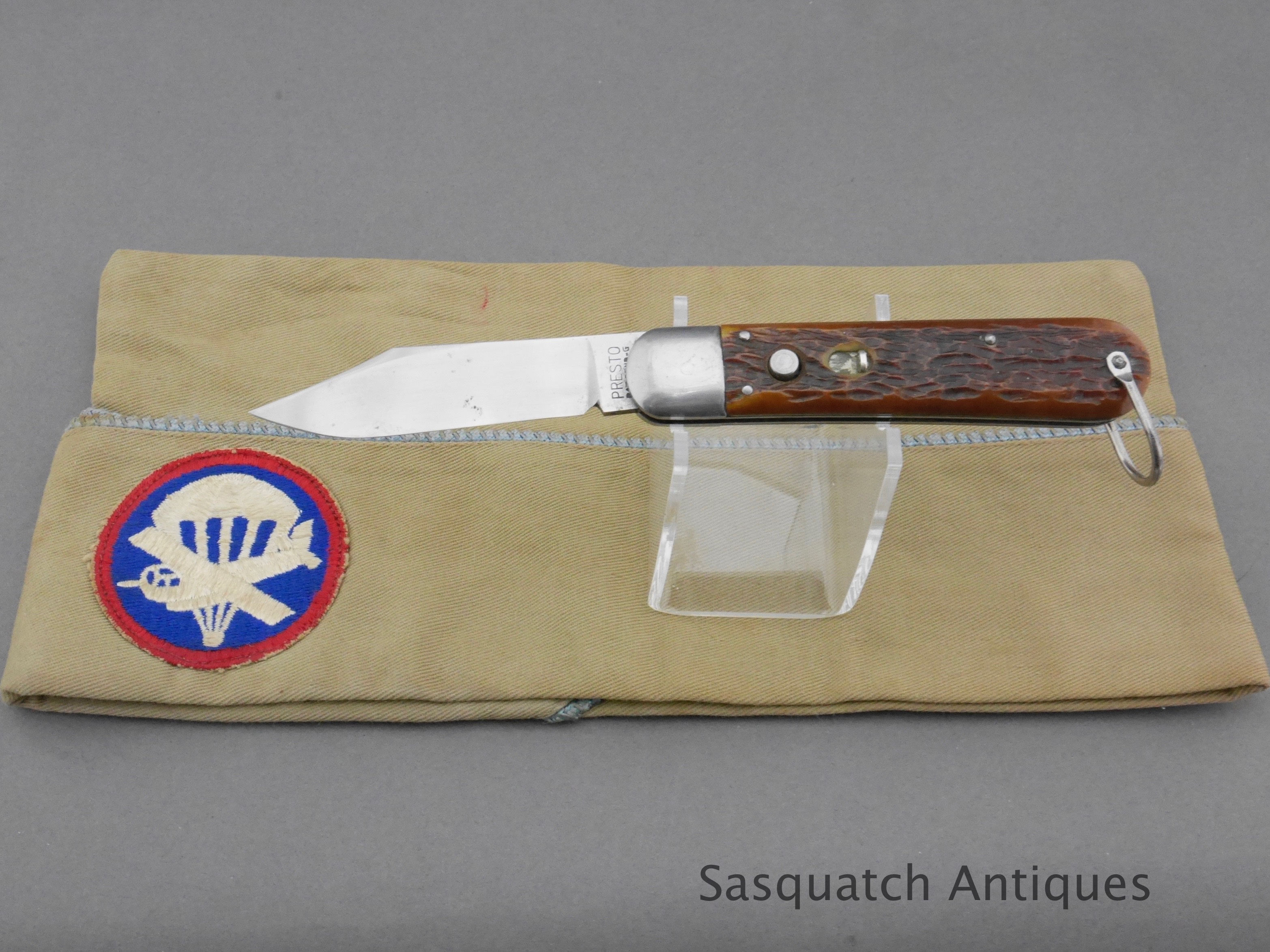 Wwii paratrooper schrade presto m pocket knife