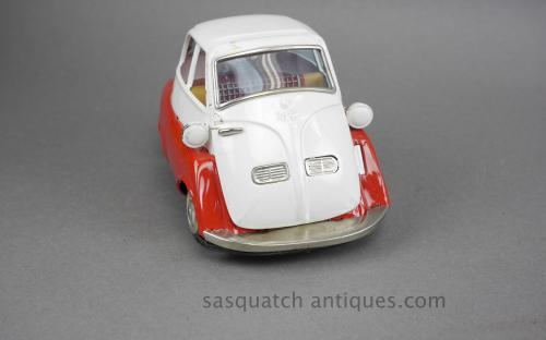 Vintage 50's BMW Isetta Japanese tin toy by Bandai B-588 for sale