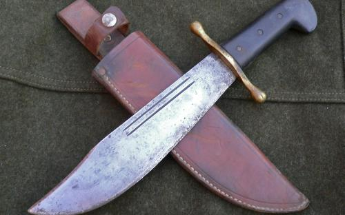 WWII Australian made V-44 Survival Bowie OR USMC Raider Fighting Knife