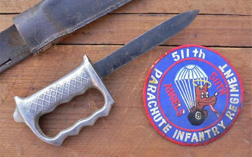 WWII Pacific theater Australian New Zealand ANZAC 28th Maroi forces commando knuckle knife