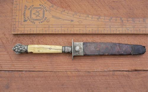 Antique Civil war era Unwin & Rodgers Sheffield ivory handle clip point bowie knife for sale