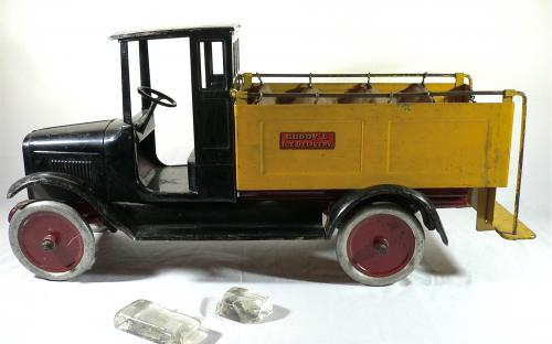 Vintage 1920's Buddy L ice delivery truck Moline pressed steel Co antique toy for sale