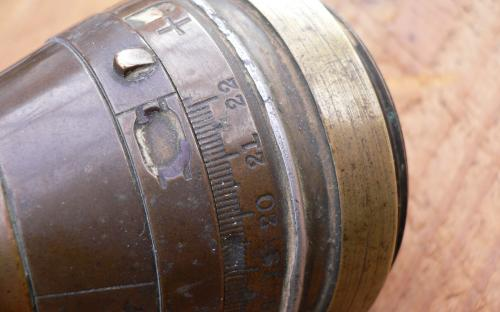 Inert WWI time and delay percussion artillery fuse Galt Co. Mfg for sale