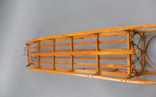 "Vintage Alaskan Inuit Eskimo craft hand built scale model dog sled 24"" long for sale"