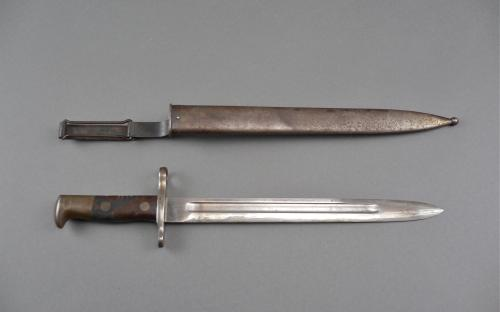 1895 Krag Jorgensen bayonet Spanish American war theater used with scabbard for sale