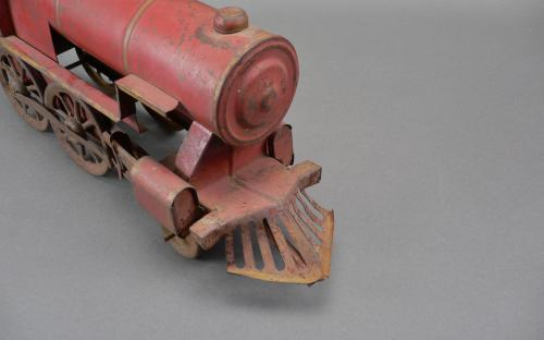 "Vintage 20's 30's large scale pressed tin toy train engine ""hillclimber"" for sale"