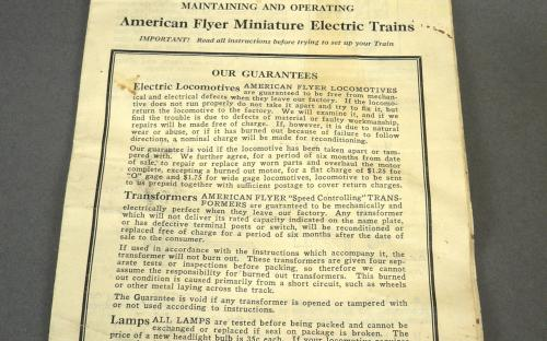 Vintage pre war American flyer electric train set 1927 catalog # 1217 in box for sale