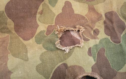 WWII USMC 2nd pattern HBT camo cover for sale