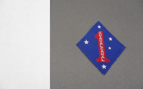 WWII USMC Australian made twill 1st marine division Guadalcanal patch Aussie made unsewn near mint for sale