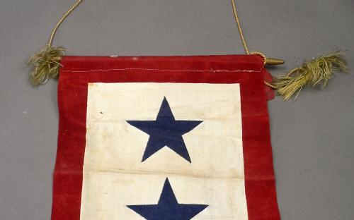 Original WWII two sons in service banner
