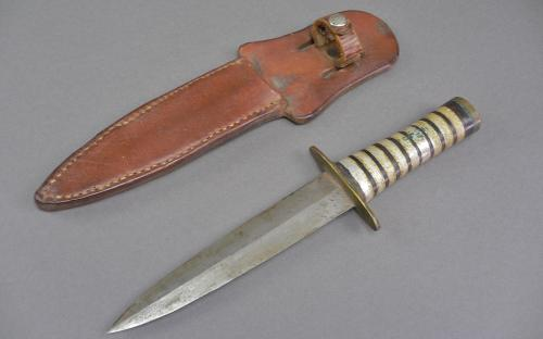 Vintage WWII dagger handmade theater knife named sheath