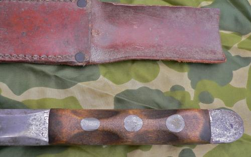 John Ek 1st generation WWII Commando fighting knife with original sheath Hamden Conn for sale