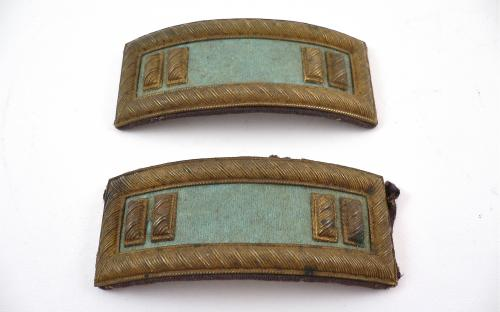 Civil War Smiths patent Infantry Captains shoulder straps or boards