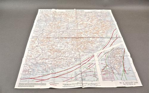 US Army Air Force WWII Escape & Evasion Cloth CBI hump pilots map of China dated 1944