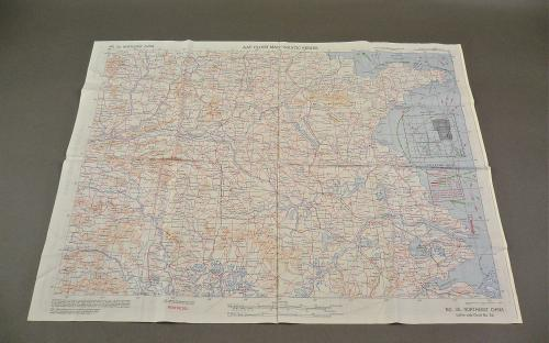US Army Air Force WWII Escape & Evasion Cloth CBI hump pilots map of China dated 1944 for sale