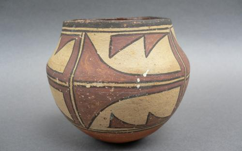 Miniature Olla form polychrome vessel Southwest Native american Zia pottery for sale