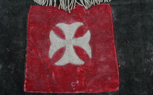 Antique Knights Templar felt bullion apron skull and bones imagery for sale