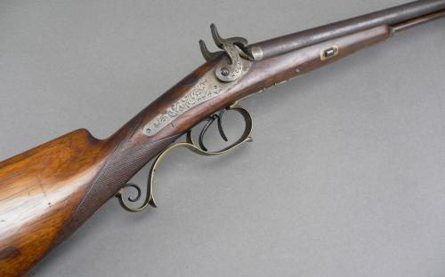 FIne 19th century engraved Klett & Sohne side by side shotgun for sale