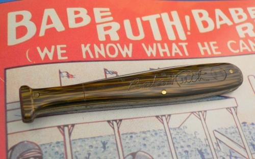 1930s vintage Babe Ruth autograph Quaker oats advertising premium pocket knife by Camillus for sale