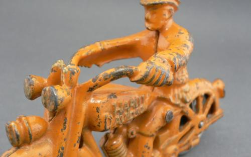 Vintage Hubley Harley Davidson cast iron motorcycle toy for sale