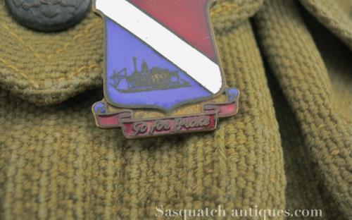 Rare WWII 442nd Regimental combat team Italian theater made unit insignia DI Go for broke! by Picchiani y Barlacchi for sale