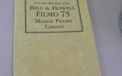 Art deco 1920's Filmo 75 16mm Bell & Howell vintage movie camera for sale
