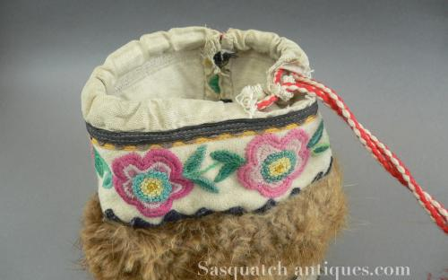 Vintage 20's-30's Alaskan embroidered dance mukluks for sale