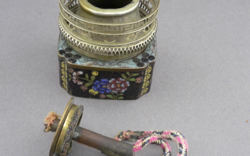 Antique Chinese Cloisonne Opium lamp late 19th or early 20th century for sale  Antique Chinese Cloisonne Opium lamp late 19th or early 20th century for sale