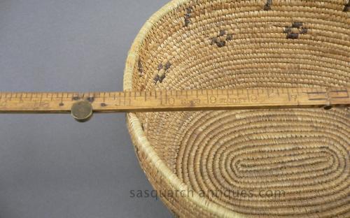 Vintage 30's oval american eskimo basket for sale