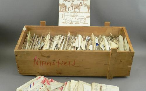 350+ WWII 1943-45 letters home from private T Mansfield 71st division 609th field artillery battalion for sale