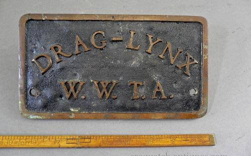 Vintage 50's Drag Lynx car club plaque Western Washington state timing association drag race salt flats