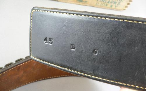 "Vintage Arvo Ojala Factory marked Colt Single action 45 LC ""fast draw"" holster gunbelt for sale"
