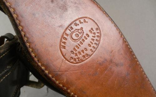 "Vintage Arvo Ojala Factory marked Colt Single action 45 ""fast draw"" holster gunbelt for sale"