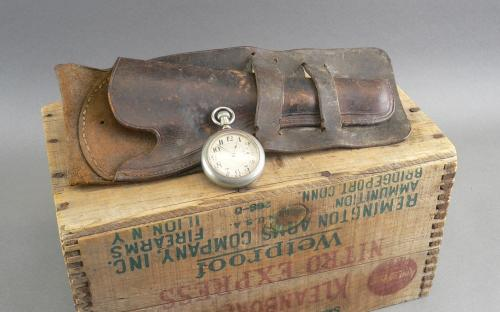 """Antique double loop handmade leather cowboy holster for Colt 7 1/2"""" SAA pistol Western Americana for sale"""
