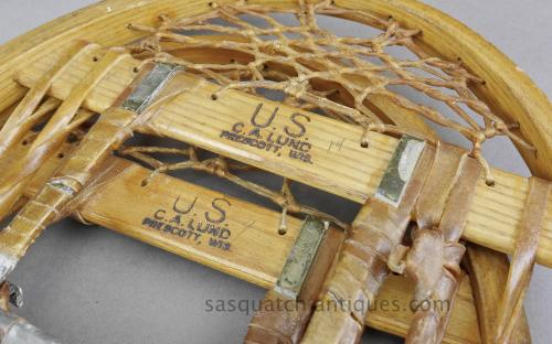 WWII 10th mountain division 1945 date coded snowshoes C.A. Lund  for sale
