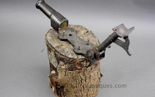 Antique cast iron stump burglar cemetery pinfire breech loading cannon