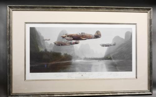"John B Shaw limited edition ""Summer of '42"" print  Artist proof Flying Tigers print with COA for sale"