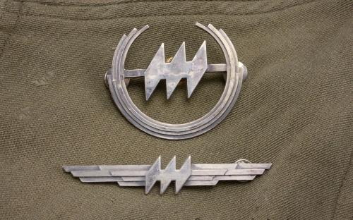 Vintage sterling Hughes airwest airlines cap badge & pilots wings 1st issue for sale