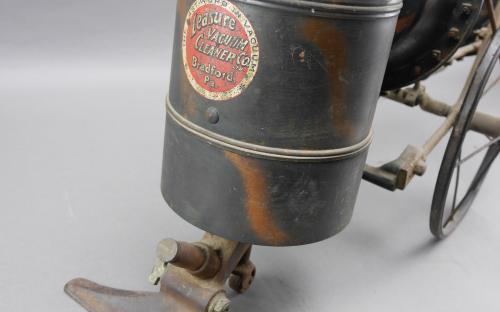 Antique Leasure time mechanical vacuum cleaner Bradford Pa victorian era steampunk for sale