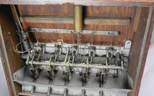 1930's oak cased five jacks penny drop trade stimulator Wurlitzer cigar store game room for sale