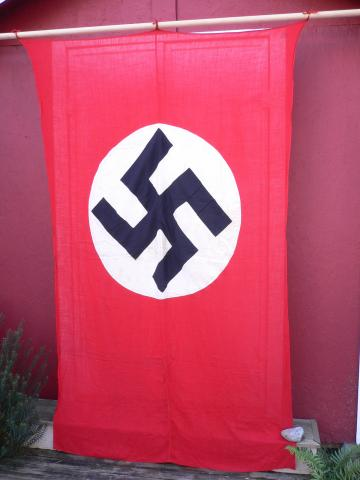 Italian made double sided Nsdap Nazi hanging Banner Flag