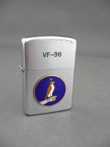 Vintage Vietnam era VF-96 fighting falcons F4 phantom squadron lighter