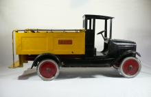 Vintage 1920's Buddy L ice delivery truck Moline pressed steel Co antique toy