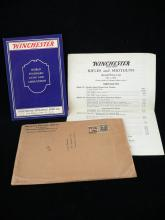1931 Winchester firearms catalog with original shipping envelope and price list